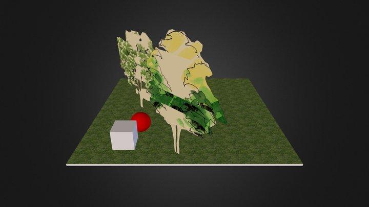 escena arboles 3D Model