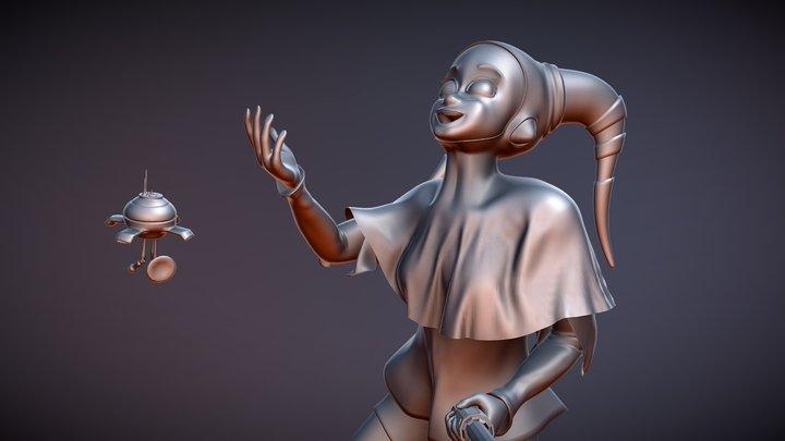 Lekku Juggler (Sculpt Only) 3D Model