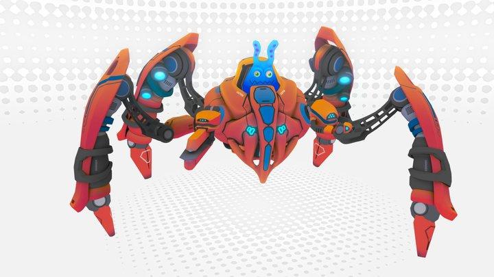 PlasmaBot Animation 3D Model
