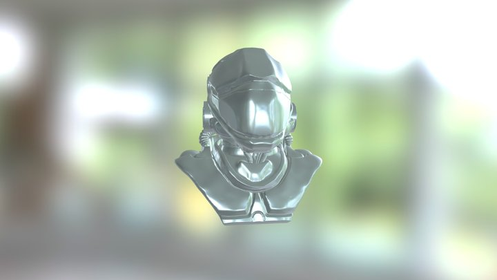 Mecha Head 3D Model