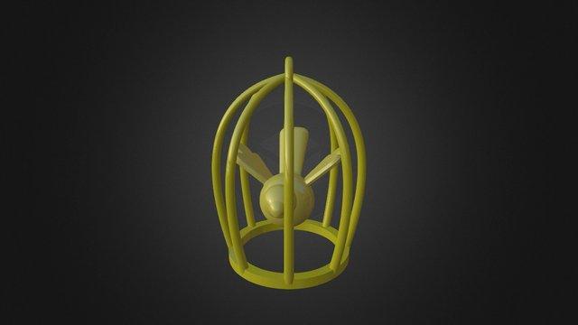 Bird in cage (Veerle) 3D Model