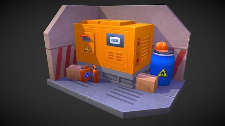 Simple game props 3D Model
