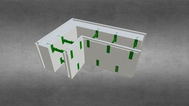 Угловой разборной термоблок 150+50 3D Model