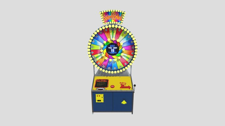 Spin-N-Win Machine - Casino HEX BE 3D Model