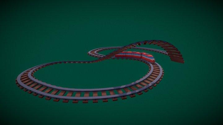 Low Poly Train 3D Model