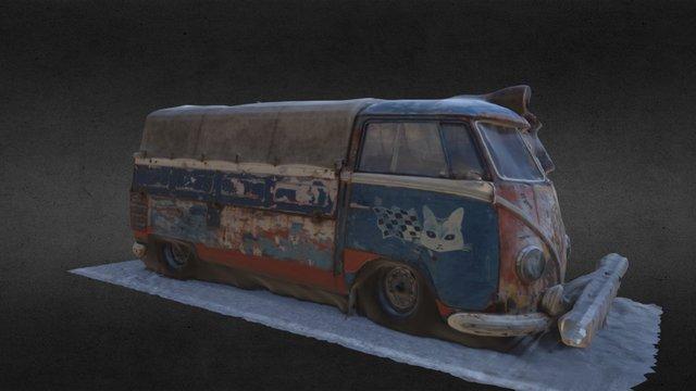 VW transporter T1 3D Model