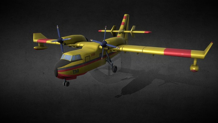 AIRPLANE Bombardier 415 3D Model