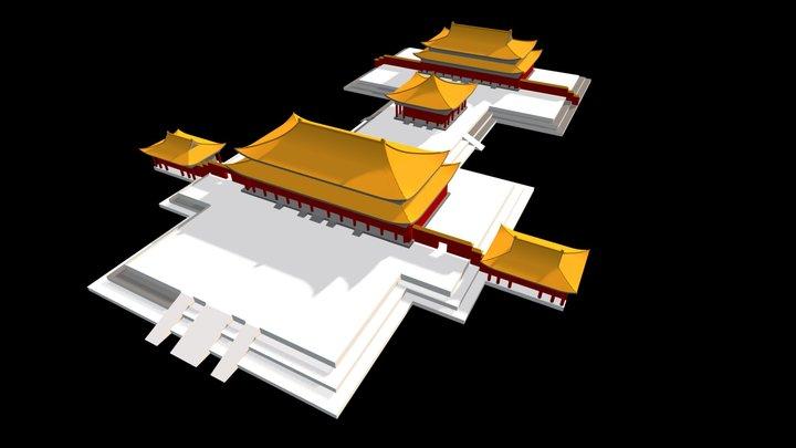 Beijing Forbidden Palace 3D Model