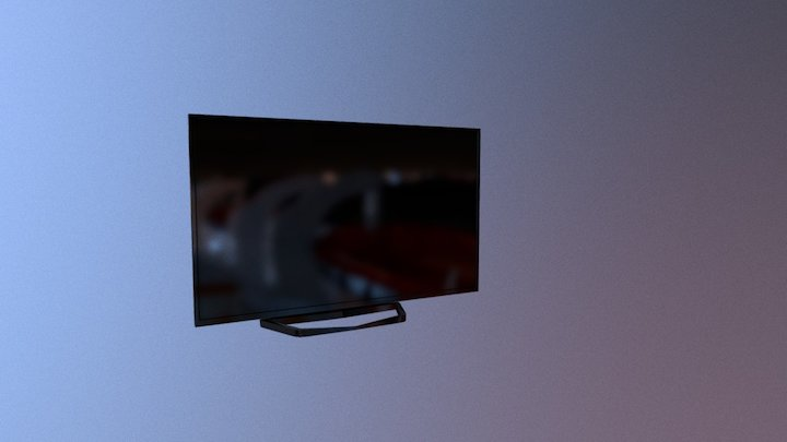 Daily 3D challenge #03 — Low poly TV 3D Model
