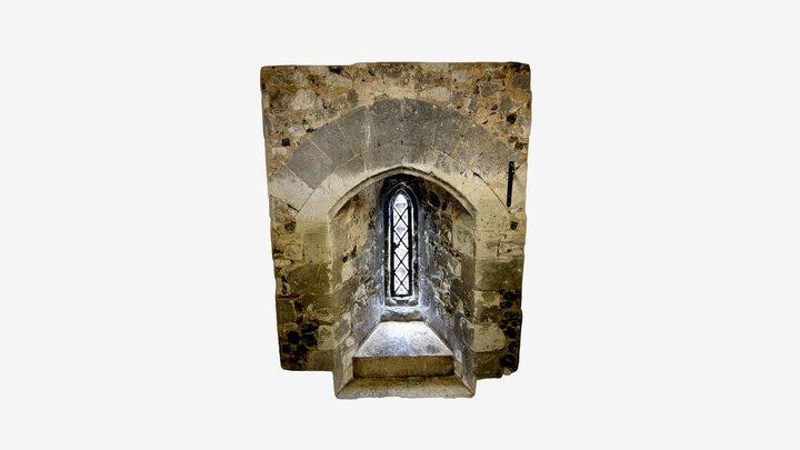 Burnham Abbey, Window Graffiti - Oct 2019 3D Model
