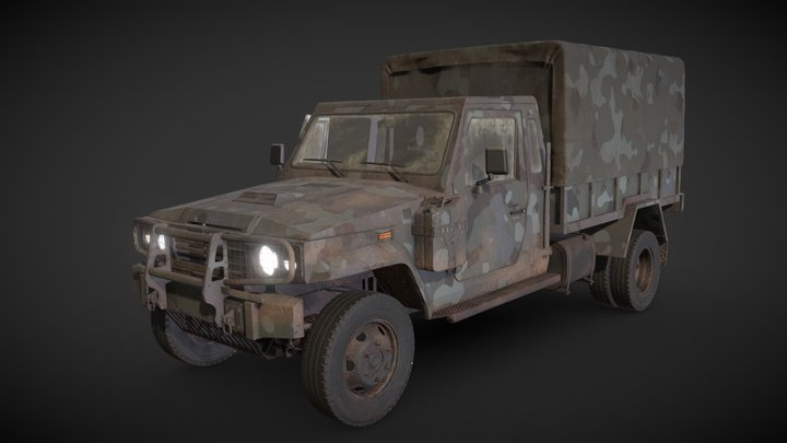 Light Military Vehicle 3D Model