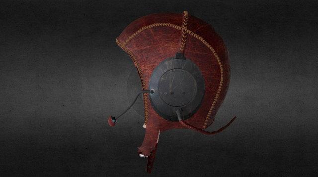 Old-school Flying Helmet 3D Model