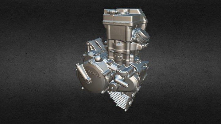 Moto 3 Engine - 3D Scan 3D Model