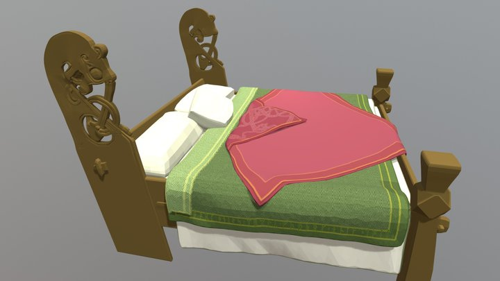 The Oseberg Bed 3D Model