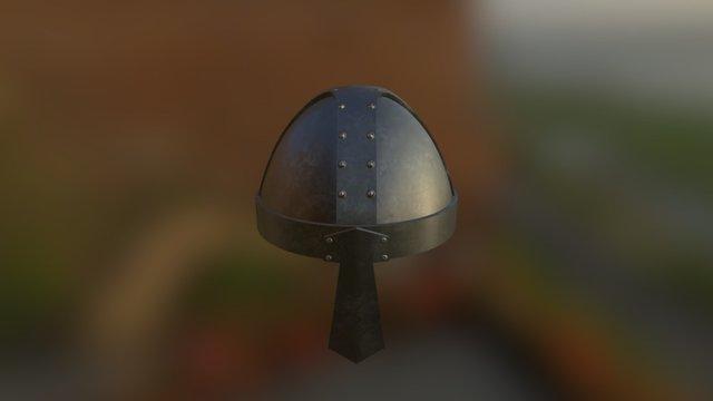 Nordic Foot Soldier Helmet 3D Model