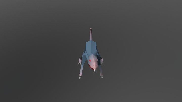 Low Poly Rat Animation Idle 3D Model