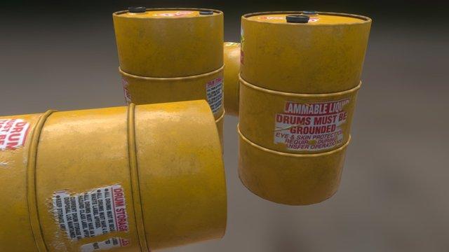Drum Barrel 3D Model