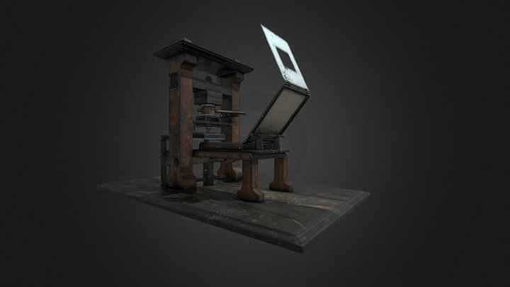 The world's first Printing Press 3D Model