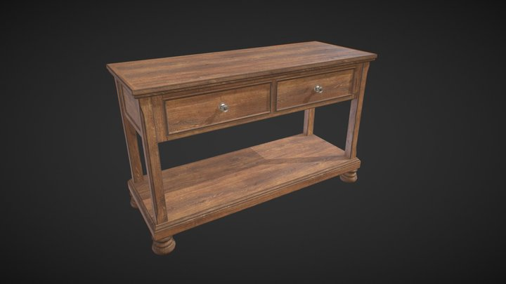 Wooden Console for entrance hall 3D Model