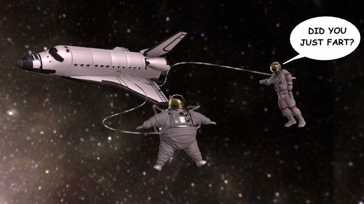 Astronaut Problems 3D Model