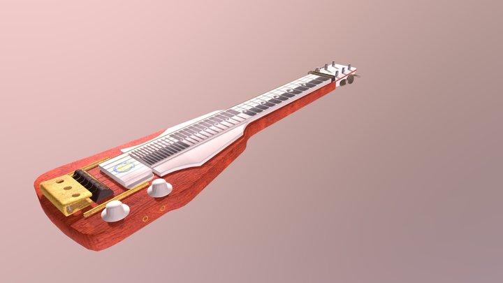 Soviet Hawaiian Slide Electric Guitar 3D Model