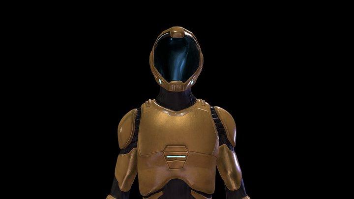 Space suit NC 2020.Original 3D Model