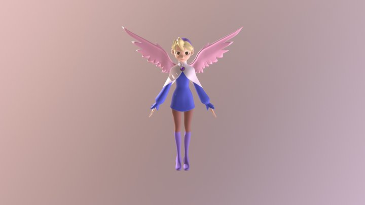Nina from Breath Of Fire IV 3D Model