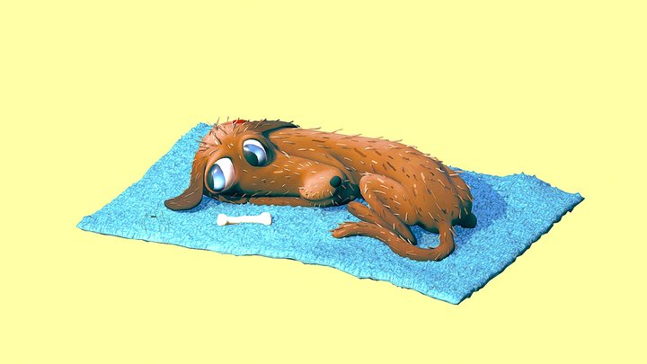Happy Doggie 3D Model