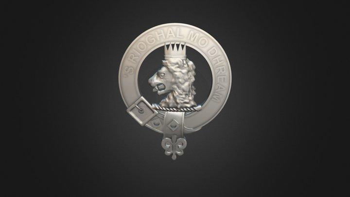 Clan MacGregor Crest 3D Model