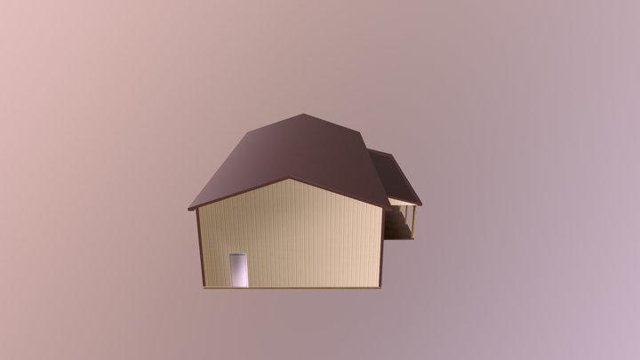 Pole Barn - 32 x 60 x 15 x 4:12 - $20330 3D Model