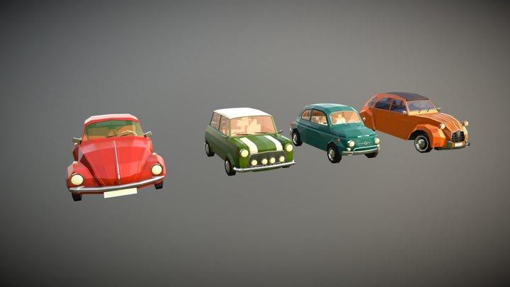 Low Poly City Car Pack 3D Model