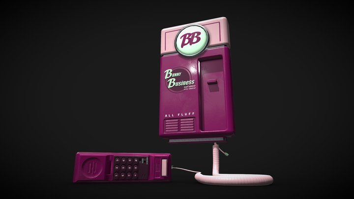 Bunny Business Promotional Telephone 3D Model