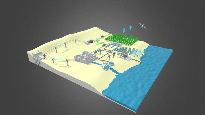 Aurinkovoimaa 3D Model