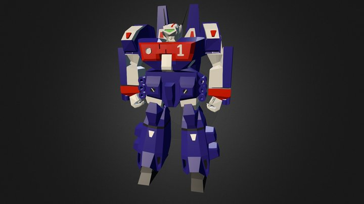 Armored Valkyrie  VF1J 3D Model