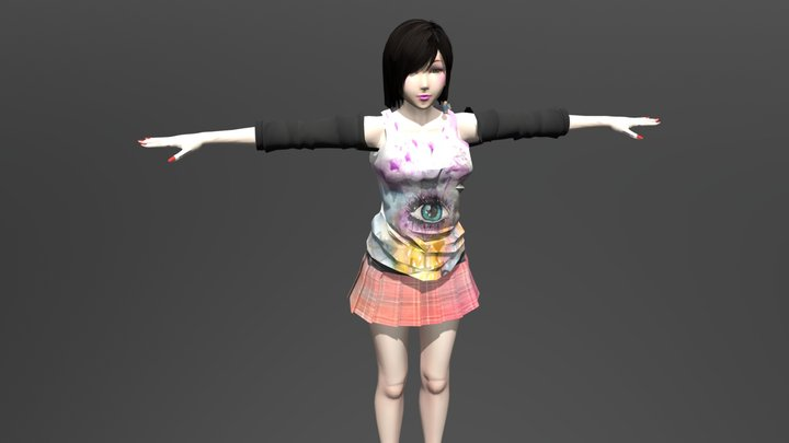 Becky Club - FBX Rigged Character 3D Model