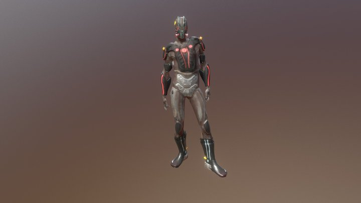 Post-Apocaliptic Soldier 3D Model