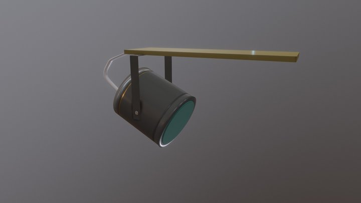 Low Poly station speaker 3D Model