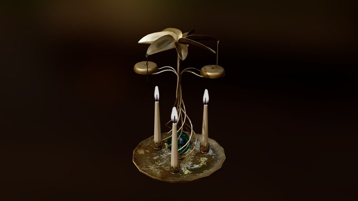 Candle Mobile: Patreon 3D Model Archive 3D Model