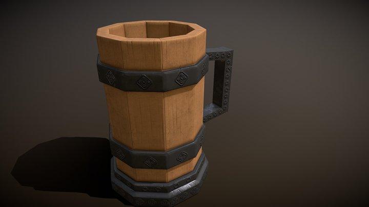 Stylized Celtic Tankard 3D Model