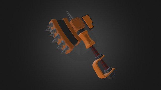 Lowpoly Battle Hammer 3D Model