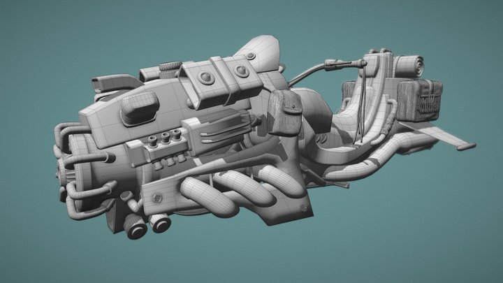 VEHICLES: HORNET CUSTOM HOVERBIKE (WIP) 3D Model