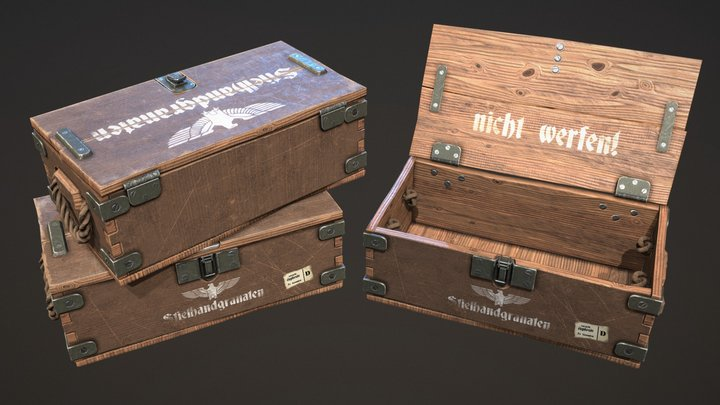 WWII Crate 3D Model