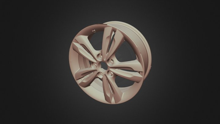 Car Alloy Wheel 3D Scan 3D Model