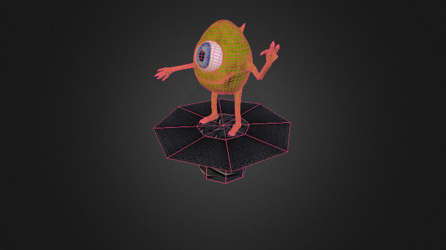 Mike Wazowski (Monster's Inc 3D Model