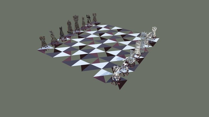 VGDT 3D Art Assignment 1 - Chess Set 3D Model