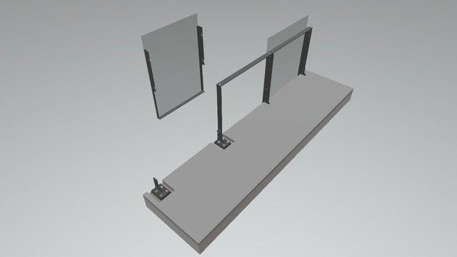 Balustrade Option 2 - Install Sequence 3D Model