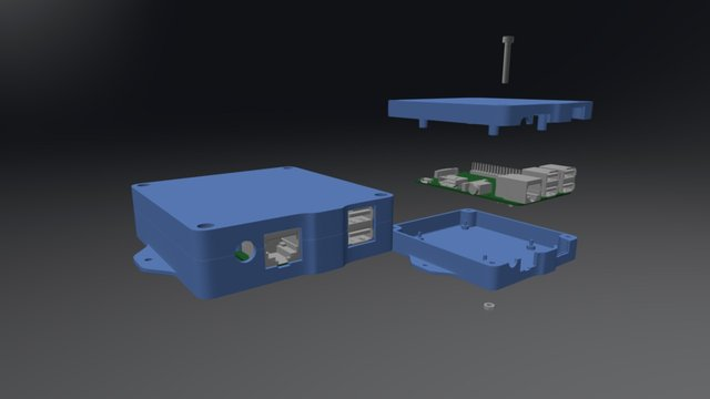 Raspberry Pi2 Case 3D Model