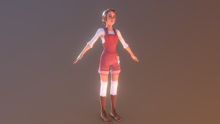 Female Character (Simple) 3D Model