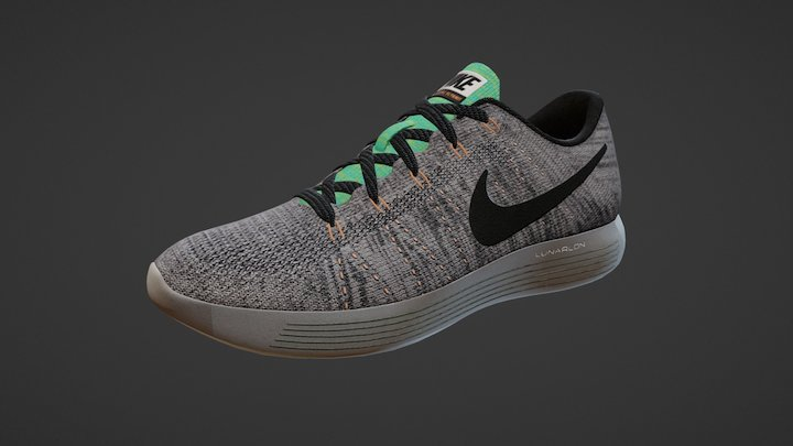 Nike Lunar Epic Low Flyknit 3D Model