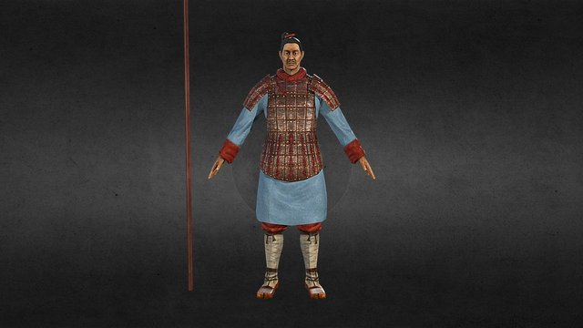 Chinese Warrior - Jin Dynasty (220-280 AD) 3D Model